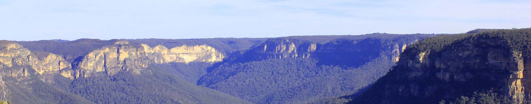 View from Govetts Leap viewpoint on our Blue Mountains Private tours