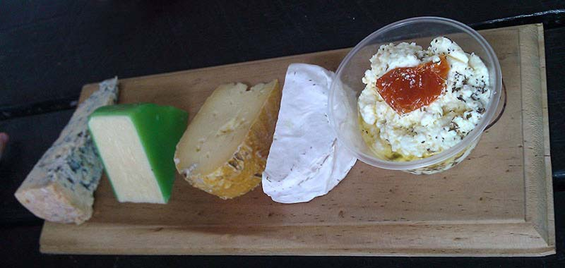 Hunter Valley Cheese Co. tasting plate