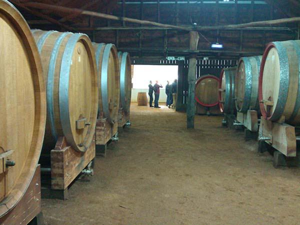 Tyrells barrel room