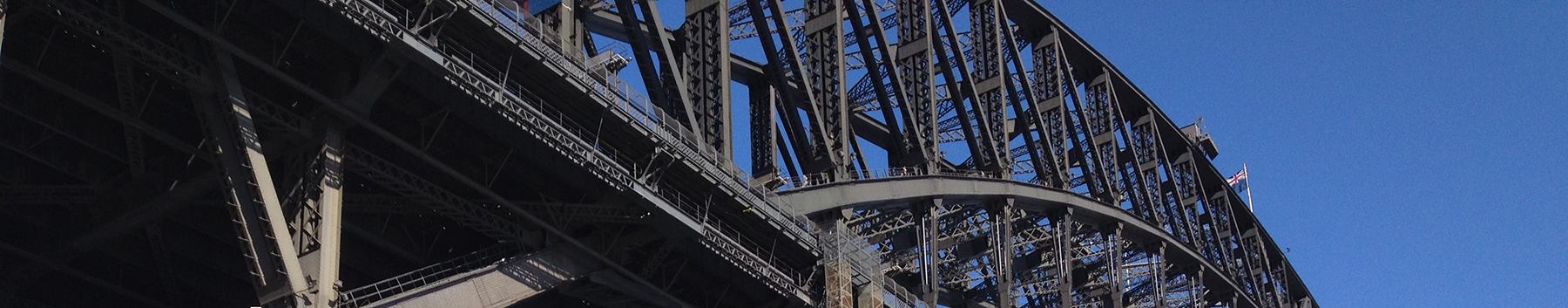 Sydney Harbour Bridge up close on our Sydney Sightseeing Tours