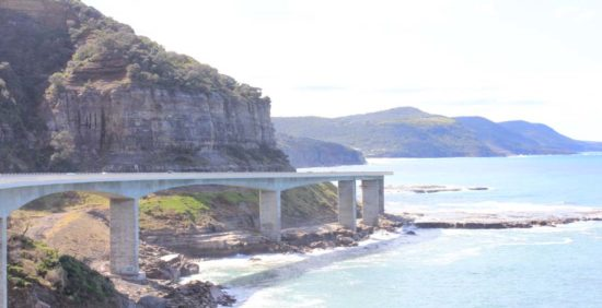 The Sea Cliff Bridge on our Sydney private tours