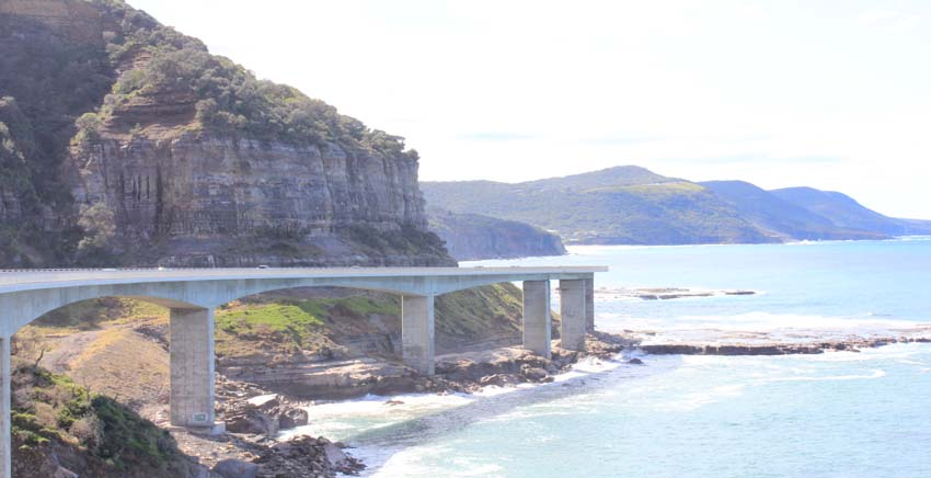 Sea Cliff Bridge along the South Coast NSW